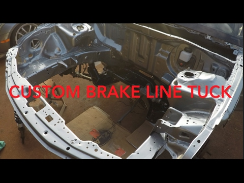 Integra DC2 front brake line tuck, PWJDM Brake booster delete & Chasebays  DIY kit (Part 2)