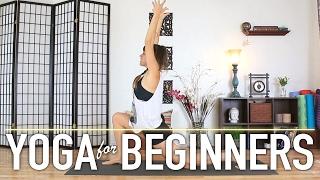 Yoga For Beginners - Easy At Home Full Body Vinyasa Workout