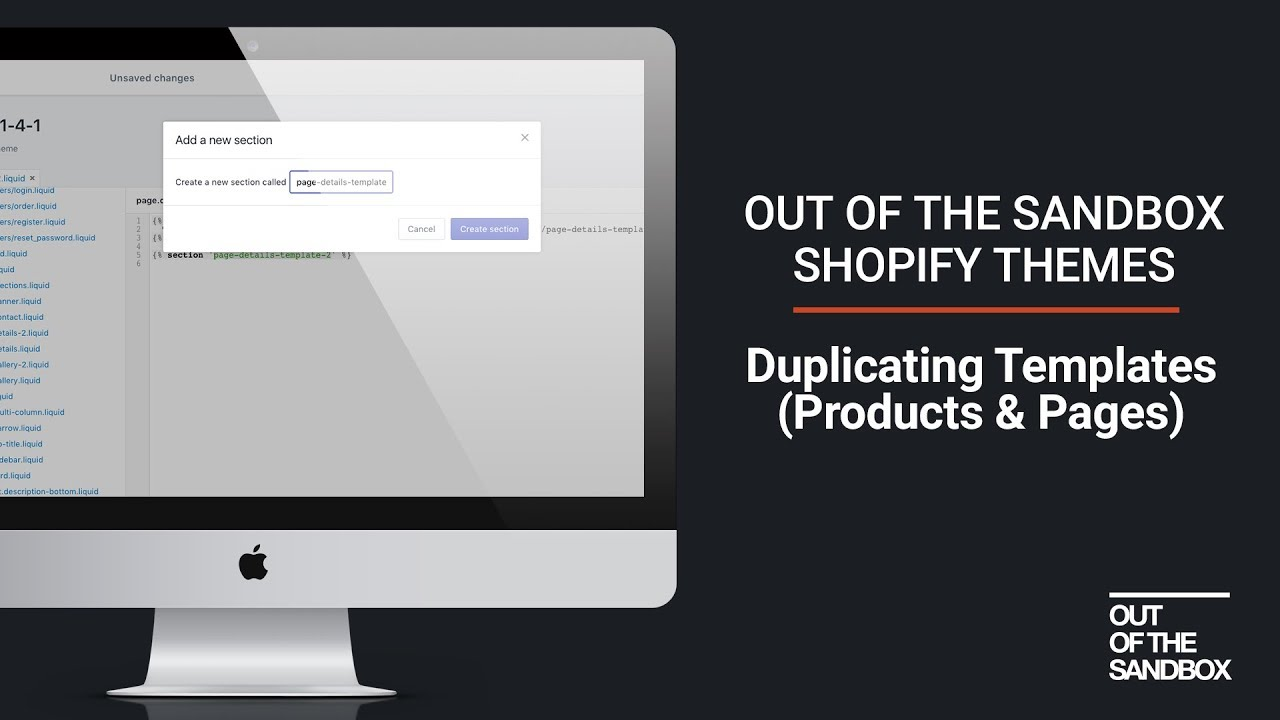 Out of the Sandbox Shopify Themes - Duplicating Templates