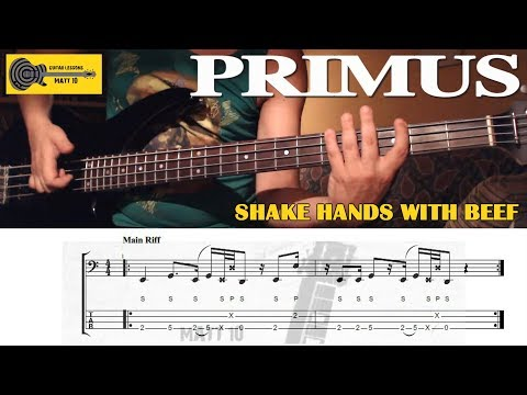 Shake Hands With Beef (Primus) BASS LESSON With TAB