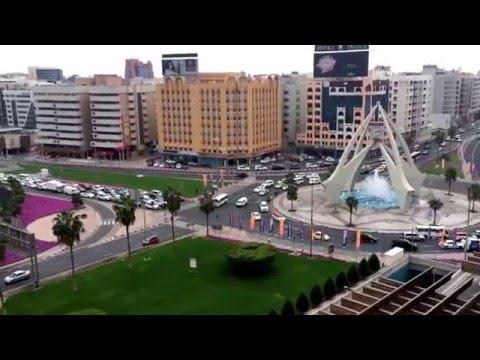 The clock tower Dubai دوار الساعة دبي