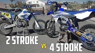 2 STROKE vs 4 STROKE! (YZ250 VS YZ250F)