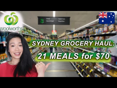 21 MEALS for $70 | WOOLWORTHS GROCERY HAUL - What I Eat in a Week in SYDNEY AUSTRALIA 2020