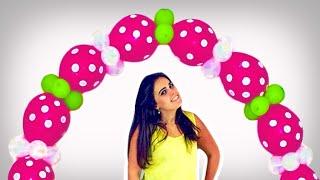 Arco de Balões Simples, Fácil e Barato de 82 balões