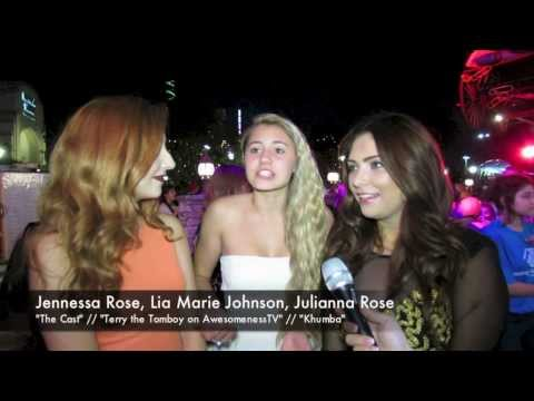 Lia Marie Johnson, Jennessa Rose and Julianna Rose