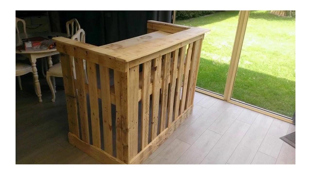 105 pallet bar diy plans cut the wood
