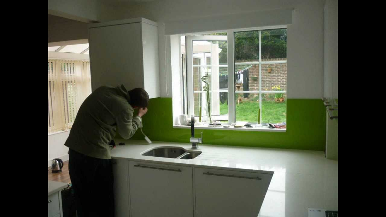 Glass Coloured Kitchens Splashbacks London Kent Uk Youtube
