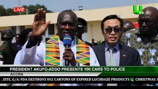 President Akufo-Addo Presents 100 Cars To Police
