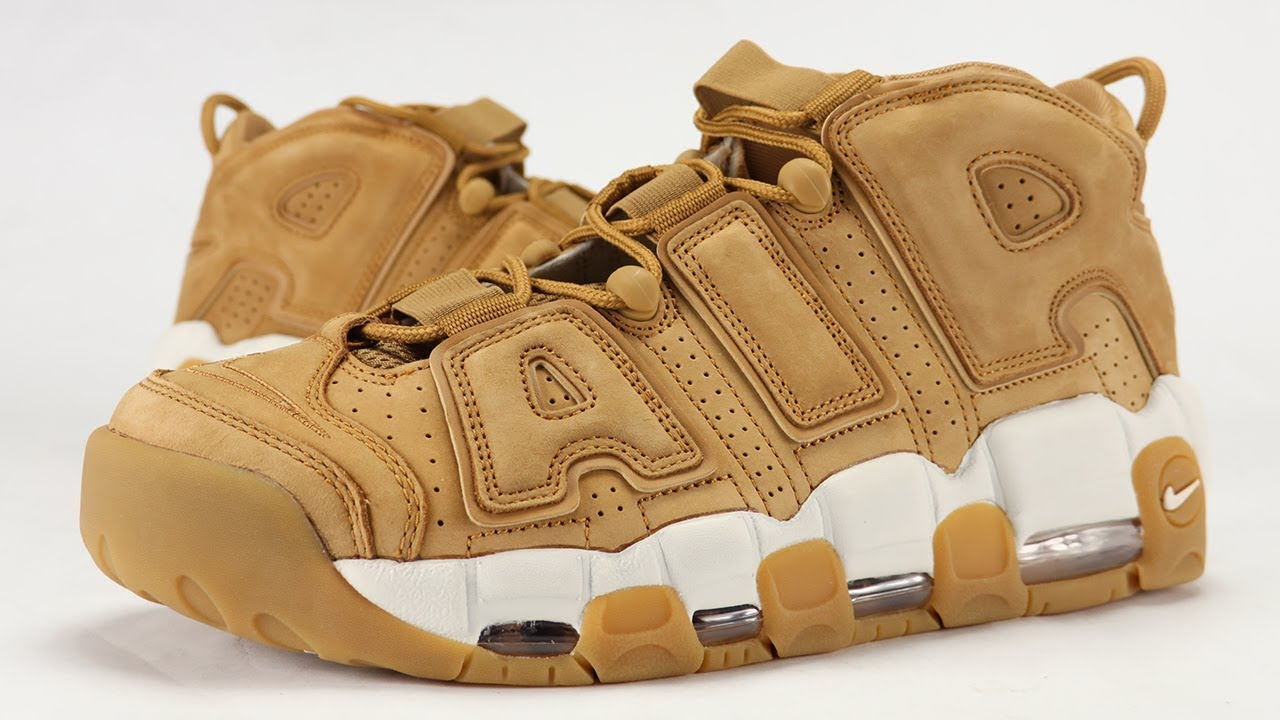 21c8ed4c56a NIKE AIR MORE UPTEMPO WHEAT FLAX REVIEW + ON FEET