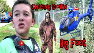 Weird Monster RUNNING from the COPS??! THE MOVIE by super FUN kids!