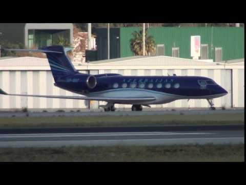 Azerbaijan Government Gulfstream G650 VP-BBF At Malaga LEMG