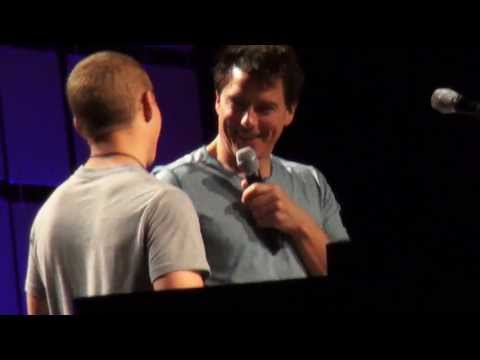 John Barrowman Flirts with a Marine