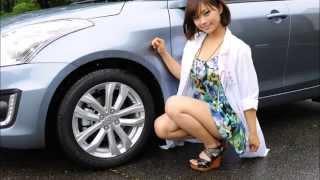 ドライブ美人 スズキ スイフト 編 女医 安枝瞳の新型車診察しちゃうぞ! 安枝瞳 検索動画 25