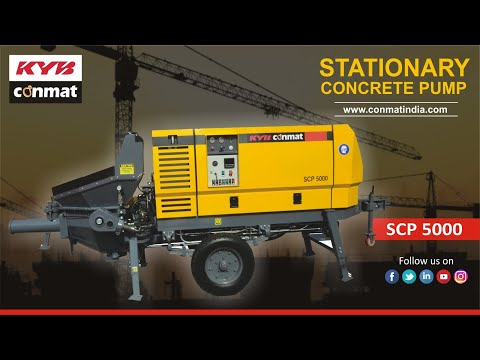 KYB Conmat - Stationary Concrete Pump (SCP 5000)