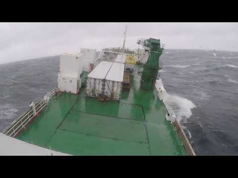 Rough Sea! Ship in bad weather, North Atlantic Storm | Life At Sea | HD