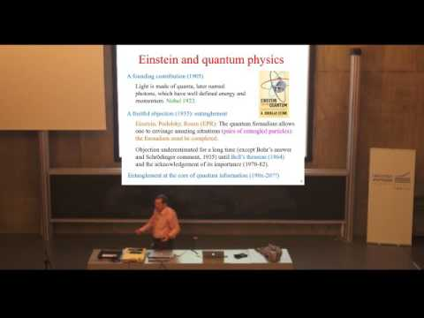 L'intrication quantique  (Alain Aspect - 2017)