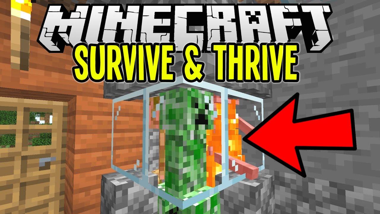 Download Super Easy CAMPFIRE MOB GRINDER | Minecraft Survival Let's Play Tutorial Ep. 4