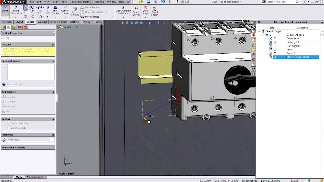 Solidworks Electrical Schematic Book Wiring Diagrams Piping Diagram 3d Sketching For Youtube