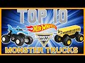 TOP 10 HOT WHEELS MONSTER TRUCKS !!! **MONSTER JAM MADNESS**