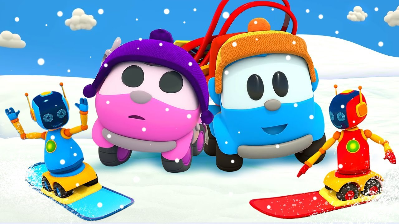 Leo the Truck and an abominable snowman – Car cartoon full episodes & street vehicles for kids.