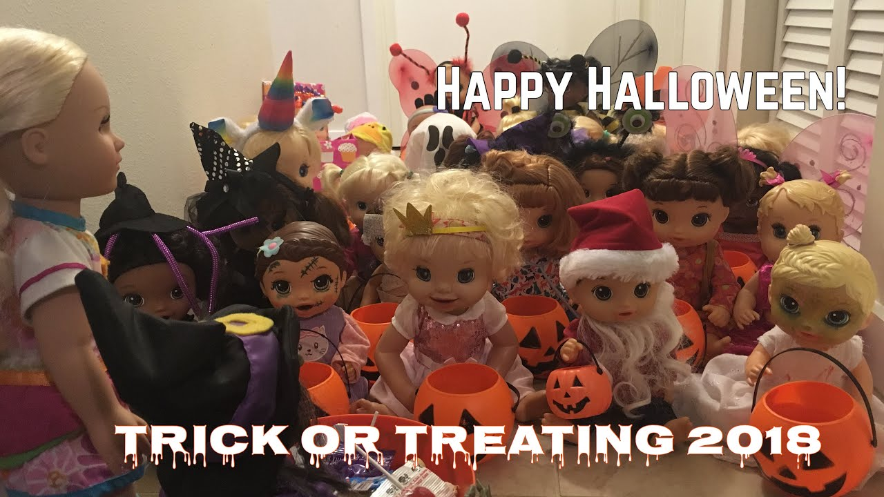 Baby Alive The Babies Go Trick Or Treating 2018 Youtube