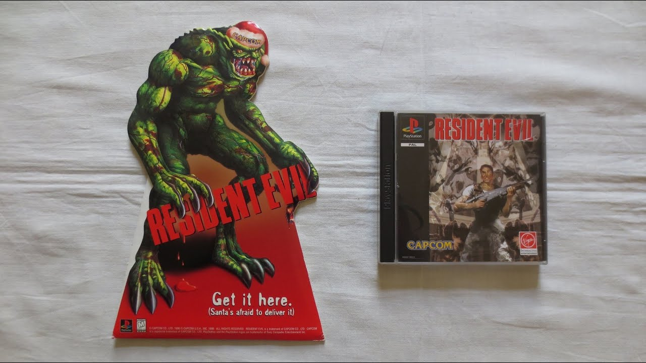 """Retro Video Game Promo Collection (PART 127) – Resident Evil """"Christmas Hunter"""" Standee (Capcom,PS1)"""