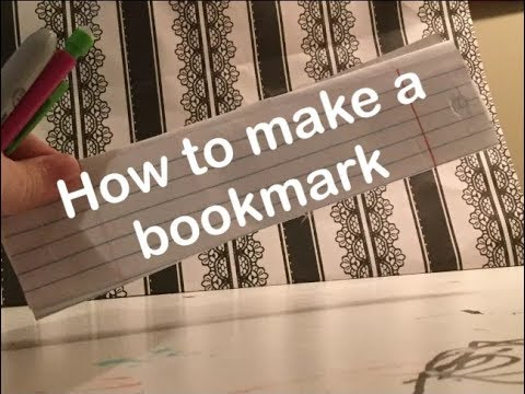 How to make a BookMark   DIY's with Eevee