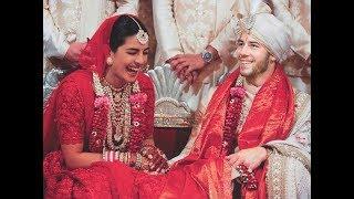 प्रियंका-निक की हिंदू शादी की तस्वीरें, लंबा घूंघट ओढ़ स्टेज पर इस तरह पहुंची थीं देसी गर्ल