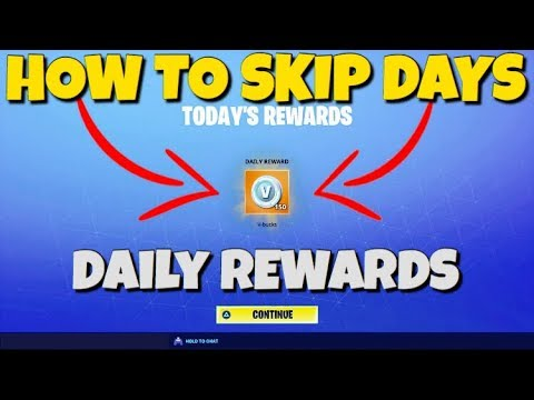 """*NEW* Skip Days On The """"DAILY REWARDS"""" Tutorial Fortnite Save The World"""
