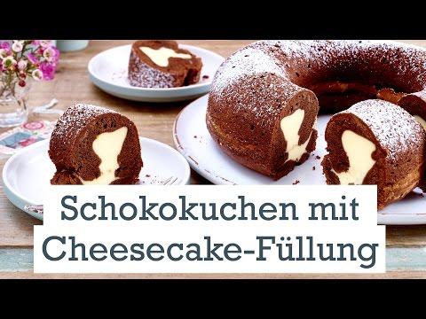 Schokokuchen mit Cheesecakefüllung - Vorsicht, Suchtgefahr!