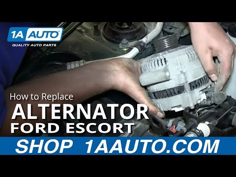 How To Install Replace Engine Alternator 1998-2003 Ford Escort ZX2