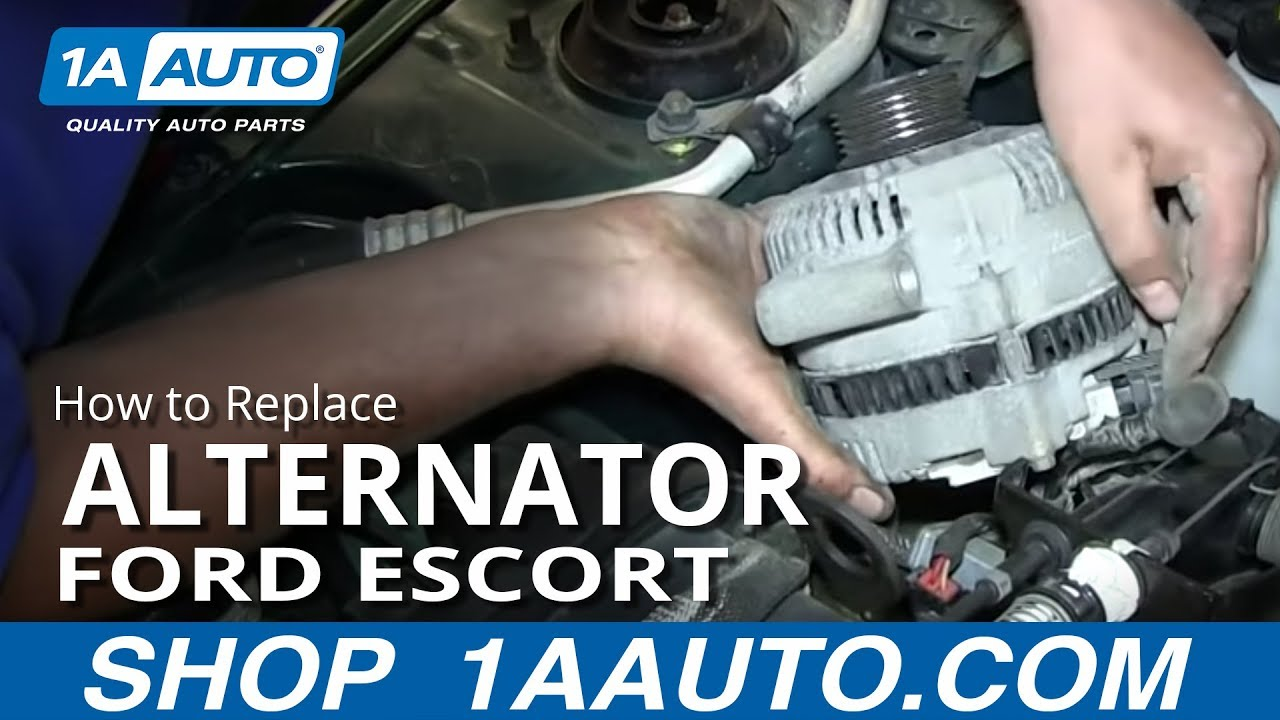 How To Replace Alternator 98 03 Ford Escort Youtube