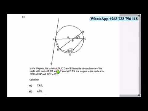 Nov 2016 Maths P1 part 2 Zimsec