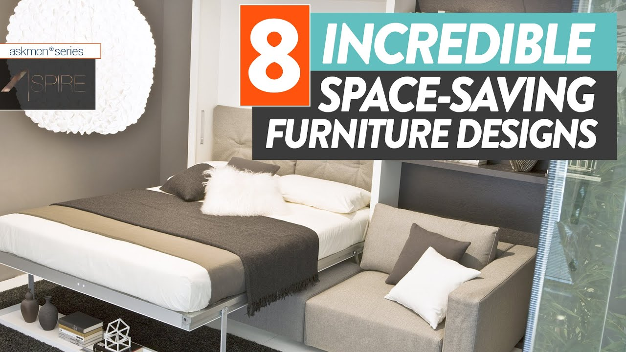 This Space Saving Furniture Will Save Your Small Apartment | Aspire - YouTube & This Space Saving Furniture Will Save Your Small Apartment | Aspire ...