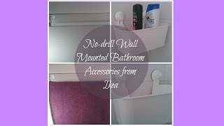 No-drill Wall Mounted Ikea Bathroom Accessories