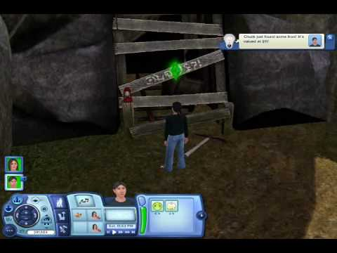 the sims 3 easter egg two yellow eyes in abandoned mine. Black Bedroom Furniture Sets. Home Design Ideas