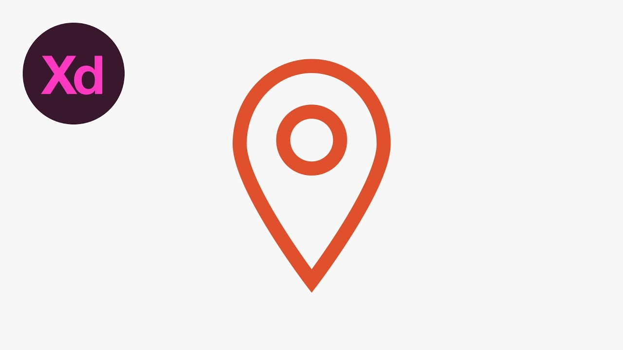 Learn How To Draw A Location Icon In Adobe XD