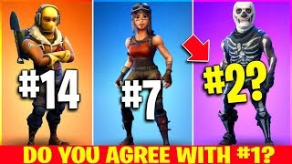 The 20 BEST Fortnite Skins EVER (voté par les fans)