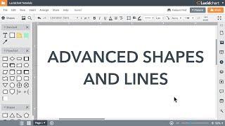 Lucidchart Tutorials - Advanced Shapes and Lines