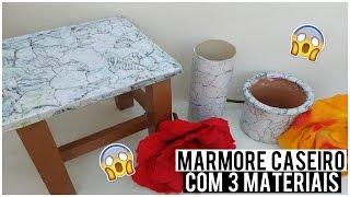 Como fazer efeito mármore Caseiro com 3 Materiais