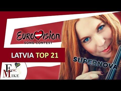 Eurovision Latvia 2018 [SUPERNOVA] - My Top 21 [With RATING]