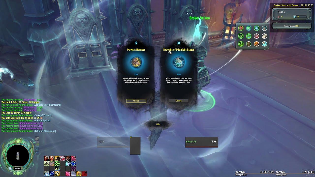 Resto Druid In Torghast What Spec Druid World Of Warcraft Forums