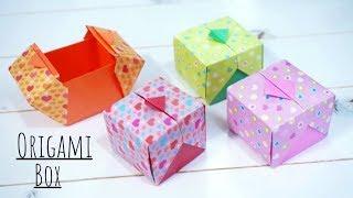 색종이로 상자 접기 / 종이접기 선물상자 / DIY P…