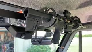 diy super strong locking gun rack for can am defender w cab santa cruz gun locks sc 6