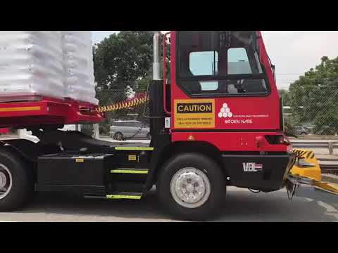 Driverless truck begins goods delivery at Singapore plant