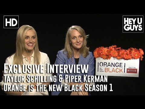 Taylor Schilling & Piper Kerman - Orange is the New Black Exclusive Interview