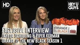 Taylor Schilling amp Piper Kerman - Orange is the New Black Exclusive Interview