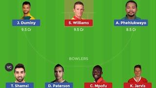 SA vs ZIM 3rd T20 Playing11| Dream11 Team and Playerzpot team news |