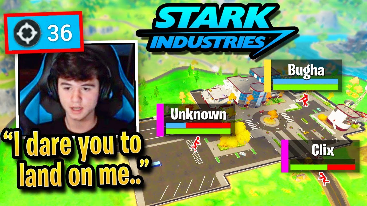 Bugha SHUTS DOWN Everyone Who Lands STARK Industries in SOLO ARENA!