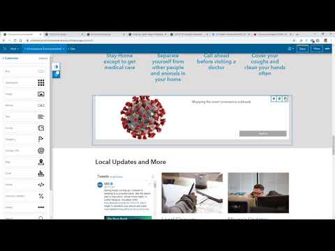 Configuring and Adding Your Content to the Coronavirus Response Template
